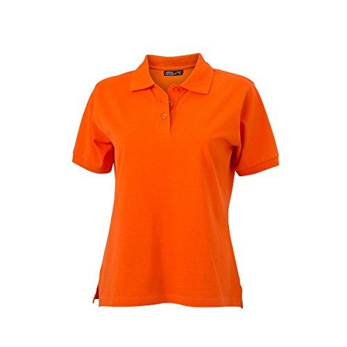 JAMES & NICHOLSON - polo piqué coupe ajustée - manches courtes - JN071 - Femme orange foncé