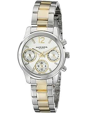 Akribos XXIV Damen-Ultimate Schweizer Quarz Multifunktions bicolor Armband Armbanduhr
