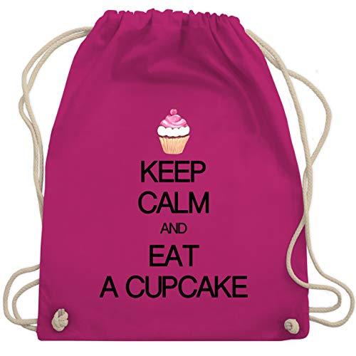 Keep calm - Keep calm and eat a cupcake - Unisize - Fuchsia - WM110 - Turnbeutel & Gym Bag Fuchsia Cupcake