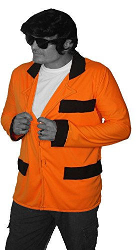 Teddy Boy Drapes 1950er/60er Jacke SHOWADDYWADDY Fancy Kleid Jacke Gr. Mandarine,L/XL, tangerine