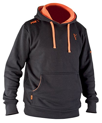 Fox Hoodie Black / Orange Kapuzenpullover, Größe:M