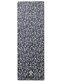 Yogi Bare Teddy Yoga - Toalla de Microfibra Antideslizante, Color Blanco y Negro