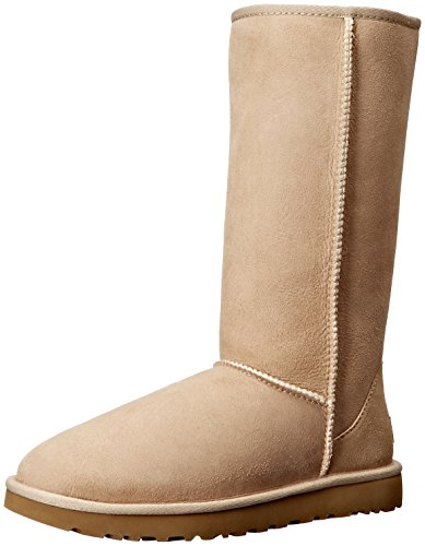 ugg-australia-womens-classic-tall-ll-brown-sheepskin-twinsole-and-suede-boots-39-eu