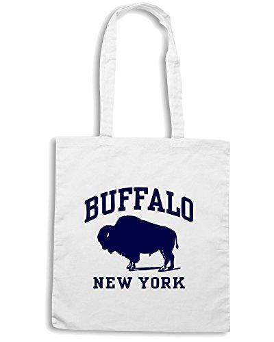 T-Shirtshock - Borsa Shopping OLDENG00028 buffalo new york(1) Bianco
