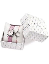 Certus niño–Coffret reloj y pulsera–caja acero–Pulsera Piel