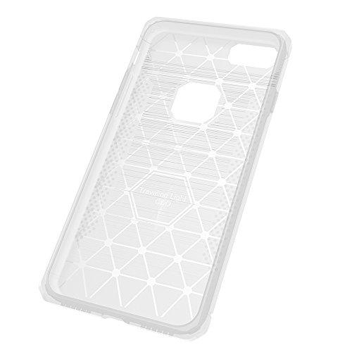 Coque Apple iPhone 7 Silicone, KATUMO Etui pour iPhone 7 Protection Transparent Gel Housse de Protection TPU Case Cover-Rouge Blanc
