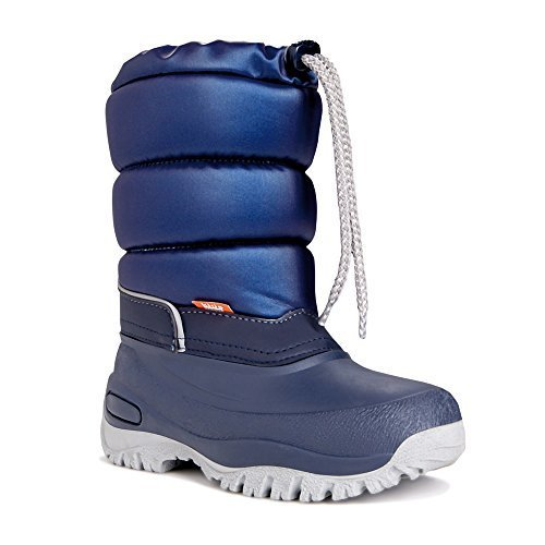 Demar Bottes D'hiver Pour Enfants Chaussures Doublée Gel - Bleu, 34/35 Eu