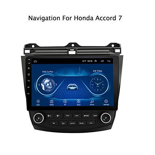 10 Pouces dans la Voiture de Tableau de Bord stéréo Android 7.1 MP5 Player pour Honda Accord 7 (2003-2007), GPS Radio Stéréo 2.5D écran Tactile Edge Edge, WiFi, BT, Inverser