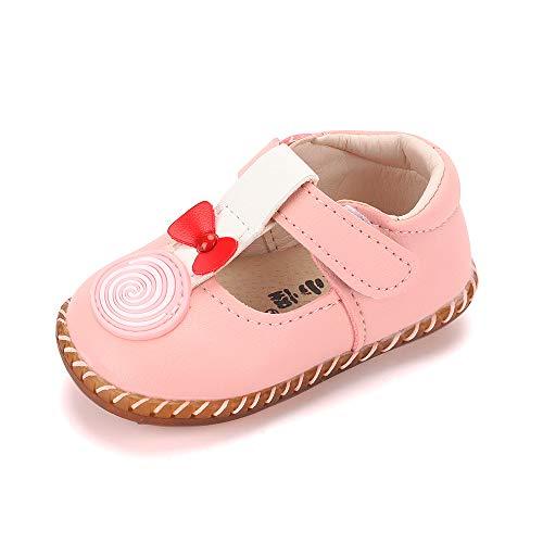 (LACOFIA Baby Mädchen Ballerinas Kleinkind T-Spange Prinzessin Lauflernschuhe Rosa 15-18 Monate)