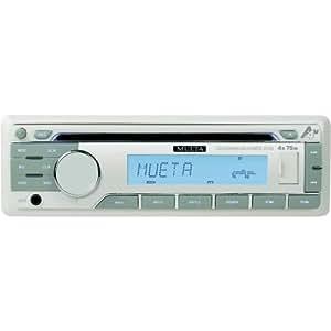 Autoradio Marine Blanc Mueta A4M CD/USB/SD/AUX/RDS EON