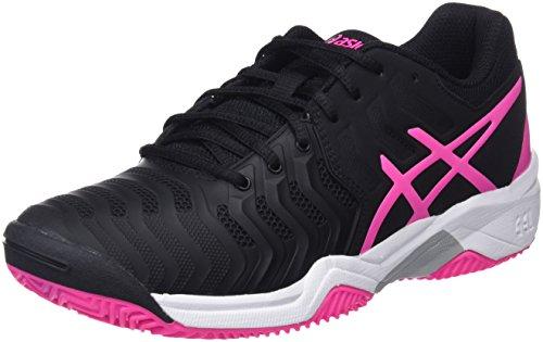 ASICS Gel-Resolution 7 Clay GS, Scarpe da Tennis Bambino, Multicolore (Black/Hot Pink/Silver), 34.5 EU