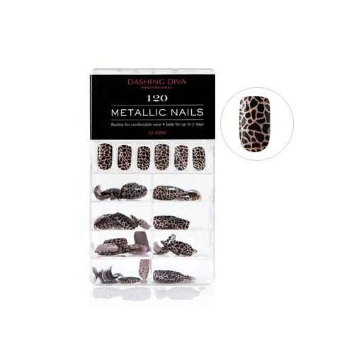 Dashing Diva - Full Cover Metallic Nails - Animal Instincts - 120 Count