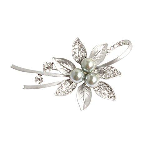 BESTOYARD Kristall Pin Brosche Mode Blumen anstecknadel mit Strass Damen Mädchen Valentinstag Muttertag Geschenk Kleid Schal Zubehör