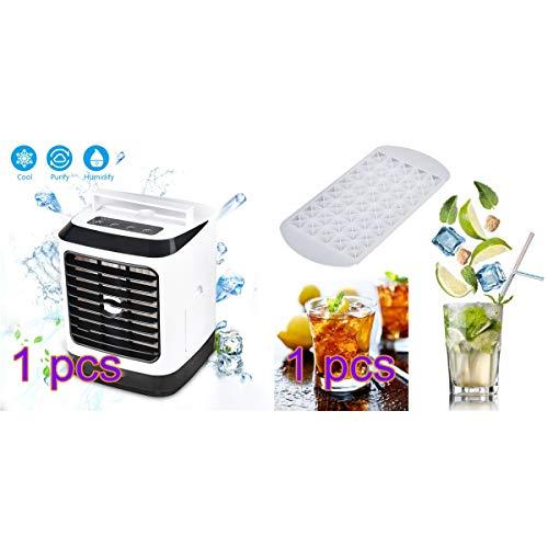 Huainiu Klimaanlage Tragbar Mit EiswüRfelschale, Ventilator Jalousie Leise Schlafzimmer, USB Schreibtisch Tragbarer Sommer-Ventilator Luftbefeuchter, Luftreiniger