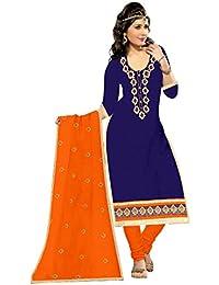 Mahi Fashion Women's Cotton Dress Material (MF35_Free Size_Multi-Coloured)