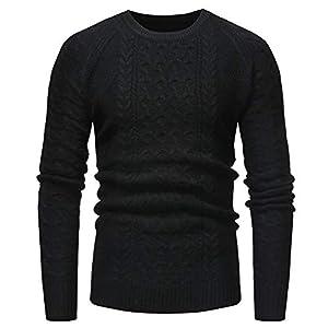 VRTUR Herren Pullover Herbst Winter Sweatshirt Solide Zur Seite Fahren Beiläufig Gestrickt Trutleneck Bluse Oben Strickpullover