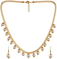 Sukkhi Adorable Gold Plated Wedding Jewellery Pearl Choker Necklace Set For Women (N82087)