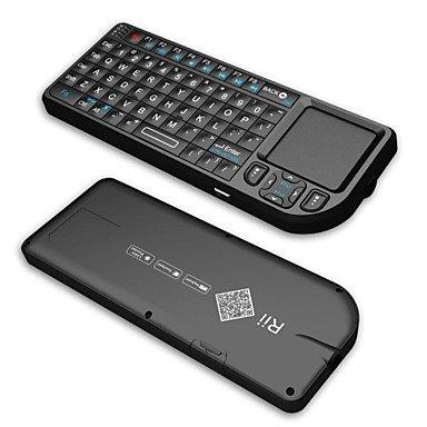 Rii Mini v32.4G Wireless keyborad mit/Touchpad/Laserpointer/Hintergrundbeleuchtung-schwarz