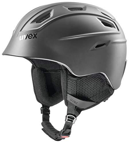 uvex Unisex- Erwachsene, fierce Skihelm, black mat, 55-59 cm