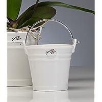 Bucket porzellanblumentopf conique de sandra rich, Porcelaine, blanc, Höhe: 10 cm Durchmesser: 10,5 (Rich & Skinny Ricco Di Scarpa Bianca)