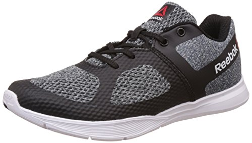 Reebok Women's Cardio Workout Black, Gravel, Flat Grey and White Dance Shoes - 6 UK/India (39 EU)(8.5 US)