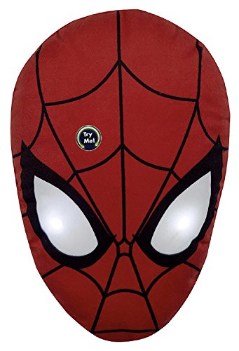 Close Up Marvel Spider-Man Kissen mit LED - rot, Bedruckt, 100% Polyester, in Polybeutel.