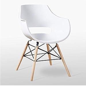 P & N Homewares Stuhl im Retro-Stil nach Olivia Eiffel, Kunststoff, Stuhl für Esszimmer, Büro, Besprechungsraum, in lebendigen Farben weiß