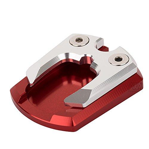Neues Aluminium Motorradzubehör Seitenständerverlängerung Ständer Vergrößerer für Yamaha Xmax 125 250 300 (Rot)