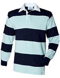 Front Row Rugby-Shirt mit genähten Streifen
