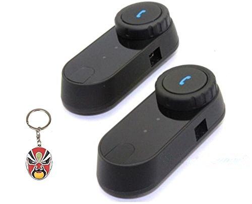Boblov LCD Schermo con funzione Fm 1000m Hi-Fi Speaker citofono del motociclo BT Bluetooth Interphone del casco Wireless