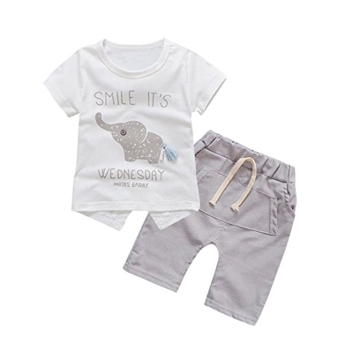 PAOLIAN Conjuntos para bebé niñas Verano 2018 Sling Camisetas + Pantalones corta...