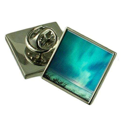 Aurora Borealis Sterne Silber Ehrennadel Geschenkbox (Aurora Borealis-bekleidung)