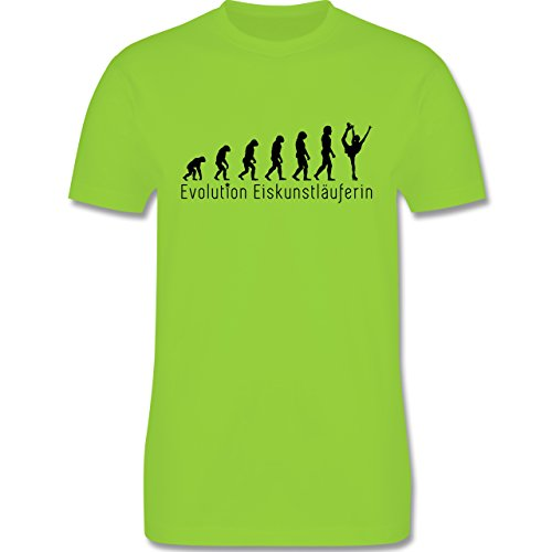 Evolution - Eiskunstläuferin Evolution - Herren Premium T-Shirt Hellgrün