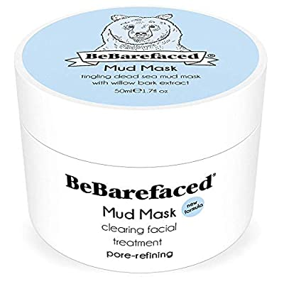 BeBarefaced Dead Sea Mud Face Mask - Facial Anti Ageing Blackhead & Acne Treatment For All Skin Types - Naturally Experience The Best Skin Possible by BeBarefaced Ltd.