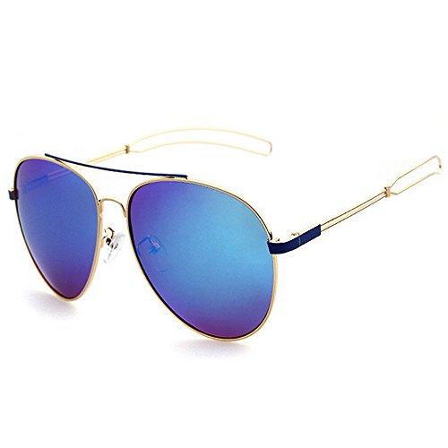 Machst du Sport? Outdoor sunglasse Frau Aviator Sonnenbrille, Metallrahmen, polarisierte Fahrbrille, UV-Schutz (Color : Brown)