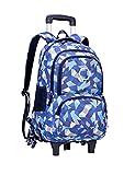 Zhhlaixing Rollen Rucksack Schultertasche für Kinder Teenager - Trolley Rucksäck Schultasche Schulranzen Reisetasche Handgepäck Daypack Jungen Mädchen