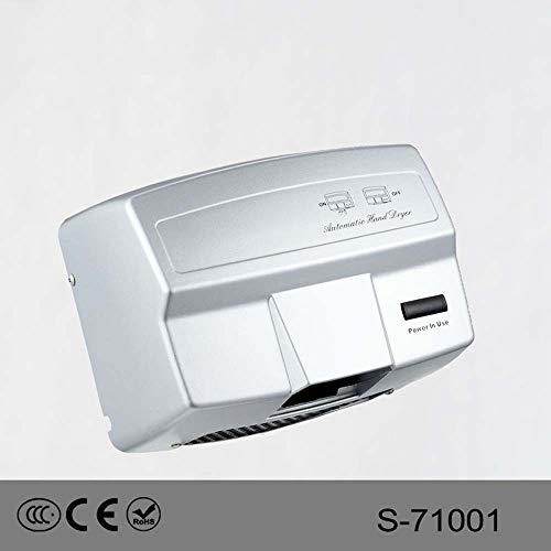 ZTJ-Lighting Automatische Händetrockner, Hochgeschwindigkeits Kommerzielle Händetrockner, 1650W Hochleistungs-Wandtrockner for Badezimmer/Toiletten,220V (Color : Silver) -
