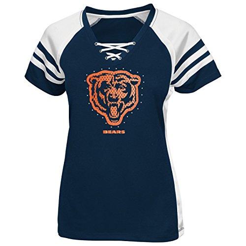 Chicago Bears Women's Majestic NFL Draft Me VII Jersey Trikot Top Shirt - Navy -