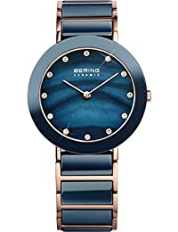Bering Time Damen-Armbanduhr Analog Quarz Edelstahl beschichtet 11435-767