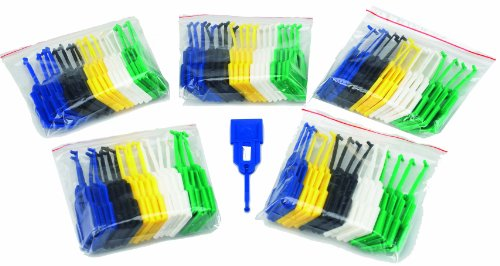 Avery Masterkey - 100 portachiavi, colori nero/blu/verde/bianco/giallo