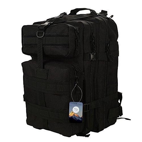 Imagen de ttlife  de senderismo 45 litros, táctica en varios colores, de asalto para excursionismo, montañismo, ciclismo, trekking ,  militar de alta calidad. negro