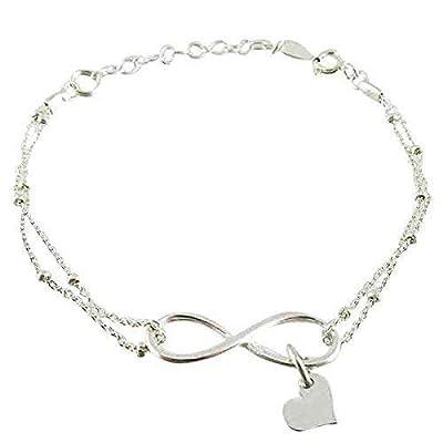 Bracelet infini coeur