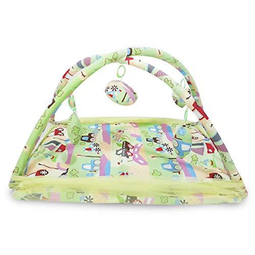 Tragbares faltbares Babybett mit Moskitonetz Cabrio Kinderbett (Streifendesign) Hängendes Kissen, Kissen Matratze Falten Net Schlafzelt Für Reisen Indoor - Cabrio Kinderbett