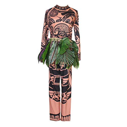 Fanstyle Moana Cosplay Robes Déguisement Maui Costumes Halloween Costume 3pcs
