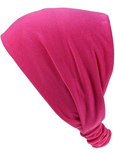 Harrys-Collection Damen Mädchen Haarband in 14 Unifarben, Farben:pink, Kopfgröße:Einheitsgröße