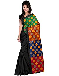 Fashion By The Brandstand Silk Saree With Blouse Piece (_Multi-Coloured_Free Size)