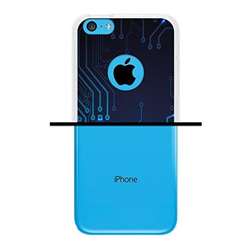 iPhone 5C Hülle, WoowCase Handyhülle Silikon für [ iPhone 5C ] Coloriertes Graffiti Handytasche Handy Cover Case Schutzhülle Flexible TPU - Transparent Housse Gel iPhone 5C Transparent D0042