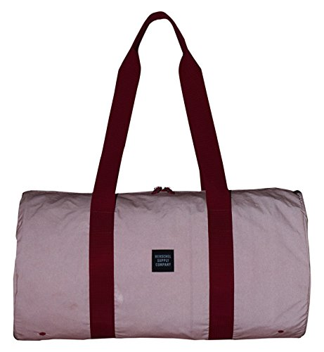 HERSCHEL PACKABLE DUFFLE DAY/NIGHT RED REFLECTIVE 22L
