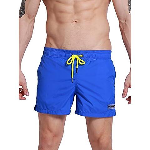 Neleus Hombres Pantalones Cortos de Playa con Bolsillos Seco Ajuste