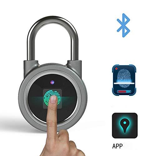 WENXIANG Candado con Huella Digital Bluetooth Candado Inteligente para